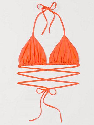 H&M H & M+ Trekantsbikini-bh orange