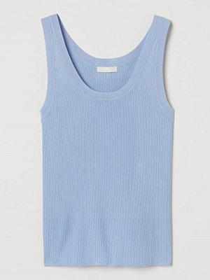 H&M Ribbstickad tanktop blå