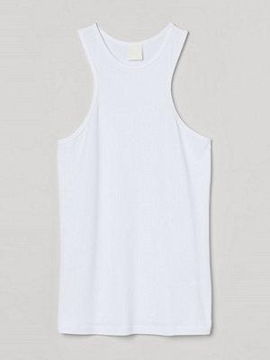 H&M Ribbad tanktop i modal vit
