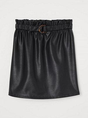 H&M Kjol med skärp svart