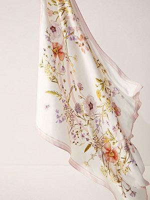 H&M Mönstrad satinscarf vit
