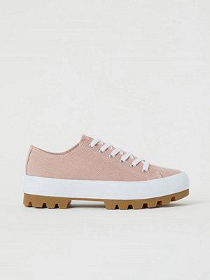 H&M Platåsneakers i canvas rosa