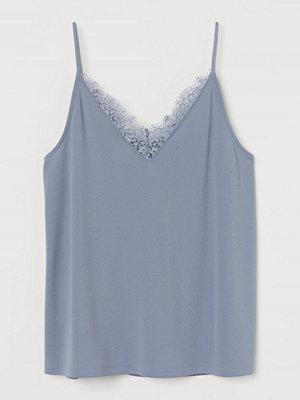 H&M Linne med spetskant blå