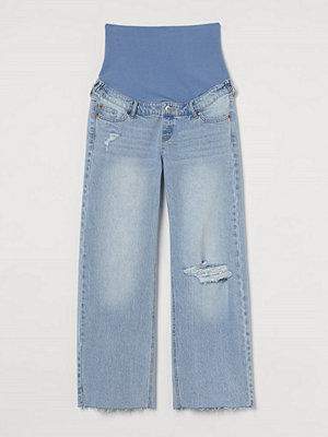 H&M MAMA Wide Ankle Jeans blå