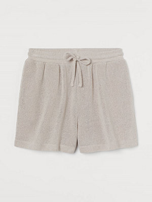 H&M Stickade shorts beige