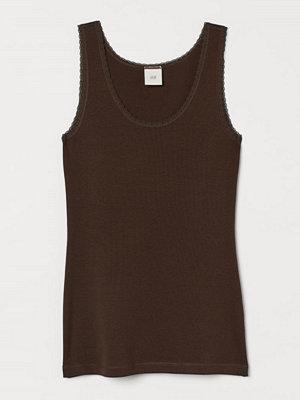 H&M Linne med spets brun