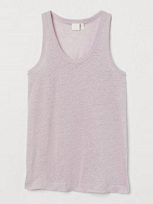 H&M Tanktop i lintrikå rosa