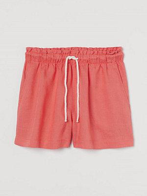 Shorts & kortbyxor - H&M Linneshorts orange