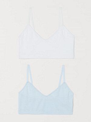 H&M 2-pack bomullstopp blå