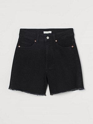 H&M Jeansshorts High Waist grå