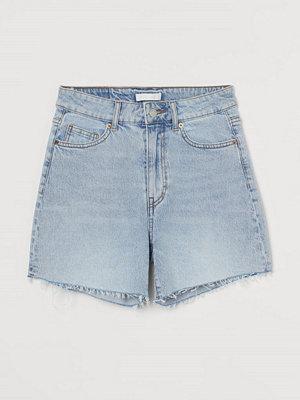 Shorts & kortbyxor - H&M Jeansshorts High Waist blå