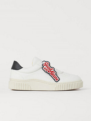 H&M Sneakers i läderimitation vit