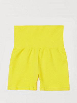 H&M Seamless hotpants gul