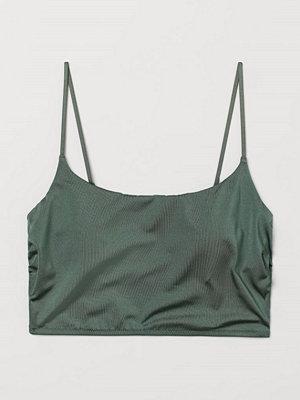 Bikini - H&M Vadderad bikinitopp grön
