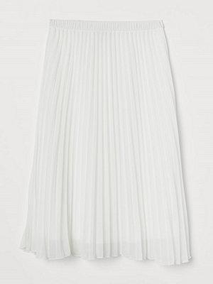 H&M Plisserad kjol vit