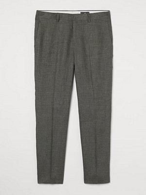 H&M Kostymbyxa i linne Slim Fit grön