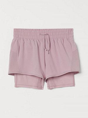 Shorts & kortbyxor - H&M Dubblerade träningsshorts rosa