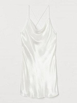 Festklänningar - H&M Slipklänning i satin vit