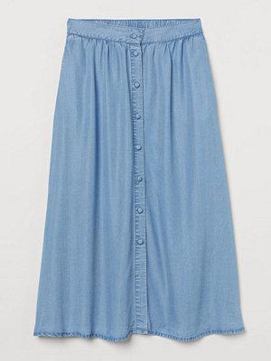 H&M Vadlång kjol blå