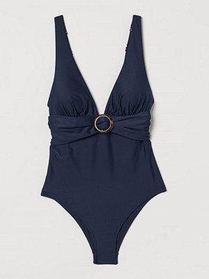 H&M Shape-baddräkt blå