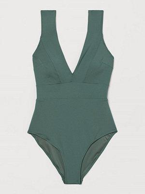 Baddräkter - H&M Shape-baddräkt grön