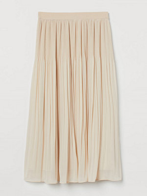 Kjolar - H&M Plisserad kjol beige