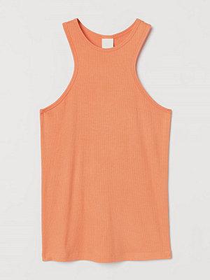 Linnen - H&M Ribbad tanktop i modal orange