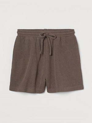 H&M Stickade shorts brun