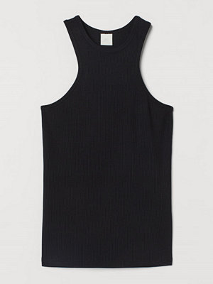 H&M Ribbad tanktop i modal svart