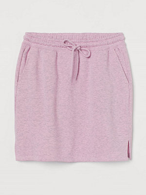 H&M Kort sweatshirtkjol rosa