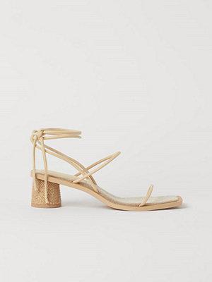 H&M Sandaletter med snörning beige