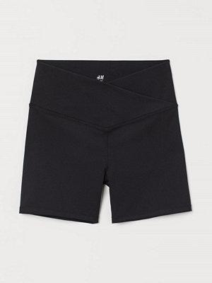 H&M Hotpants High Waist svart