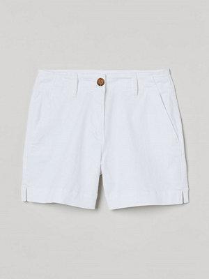 Shorts & kortbyxor - H&M Shorts i bomullstwill vit