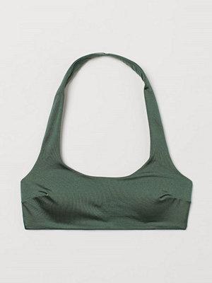 H&M Vadderad bikinitopp grön