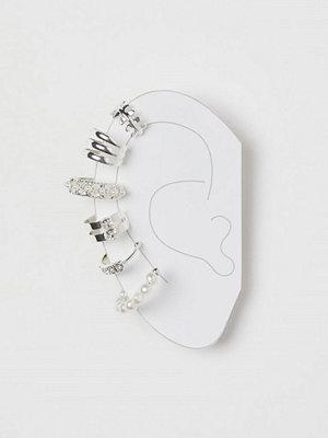 H&M örhängen 6-pack earcuffs silver