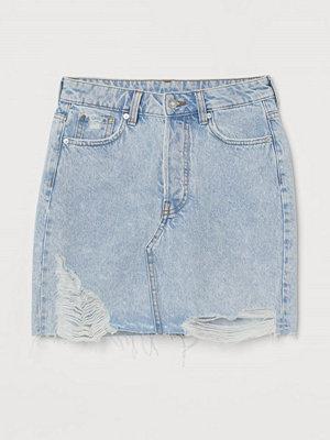 H&M Jeanskjol blå