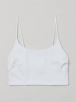 H&M Lång bikinitopp vit