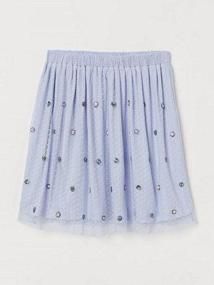 H&M Kort meshkjol blå
