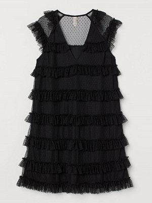 Festklänningar - H&M Volangklänning i tyll svart