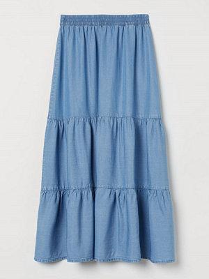 H&M Vid kjol i lyocell blå