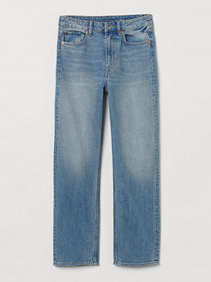 Jeans - H&M Straight High Ankle Jeans blå