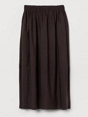 H&M Kjol i lyocellmix brun