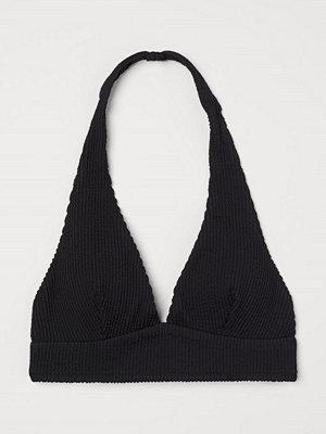 H&M Bikinitopp med halterneck svart