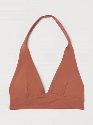 H&M Bikinitopp med halterneck orange