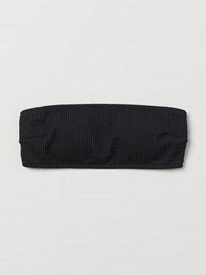 H&M Vadderad bandeaubikini-bh svart