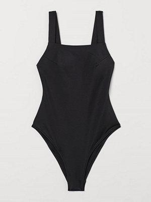 H&M Shape-baddräkt High leg svart