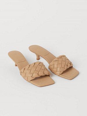 H&M Flätade sandaletter beige
