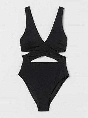 H&M Cut out-baddräkt High leg svart