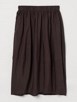 H&M H & M+ Kjol i lyocellmix brun