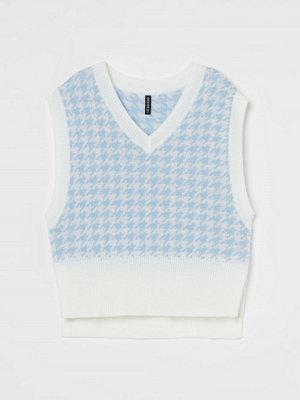 H&M Kabelstickad slipover blå
